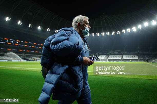 José Mourinho Manager of Tottenham Hotspur arrives ahead of the UEFA Europa League Group J stage match between Tottenham Hotspur and PFC Ludogorets...