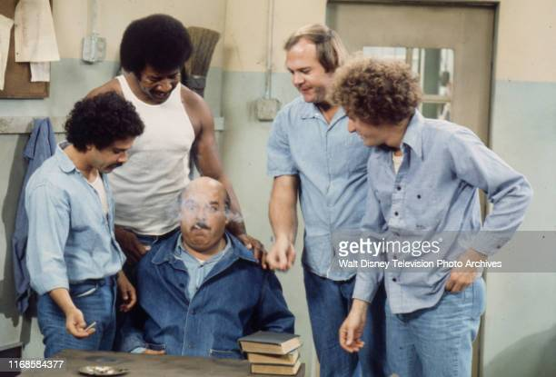 José Pérez Hal Williams Rick Hurst Bobby Sandler Sorrell Booke appearing in the ABC tv series 'On The Rocks' episode 'The High and the Mighty'