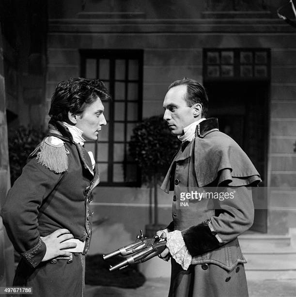 José Quaglio and Jean Paqui in a scene of the drama realized by Maurice Cazeneuve 'the Knight of MaisonRouge'