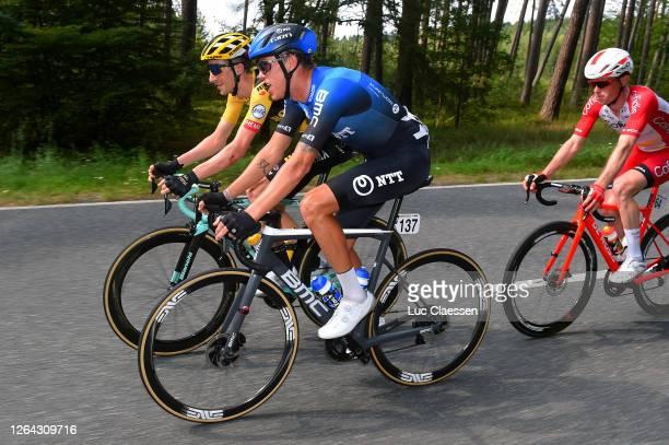 Jos Van Emden of The Netherlands and Team Jumbo - Visma / Dylan Sunderland of Australia and NTT Pro Cycling Team / Jesper Hansen of Denmark and Team...