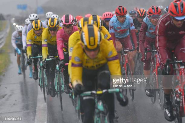 Jos Van Emden of The Netherlands and Team Jumbo - Visma / Primoz Roglic of Slovenia and Team Jumbo - Visma Pink Leader Jersey / Ilnur Zakarin of...