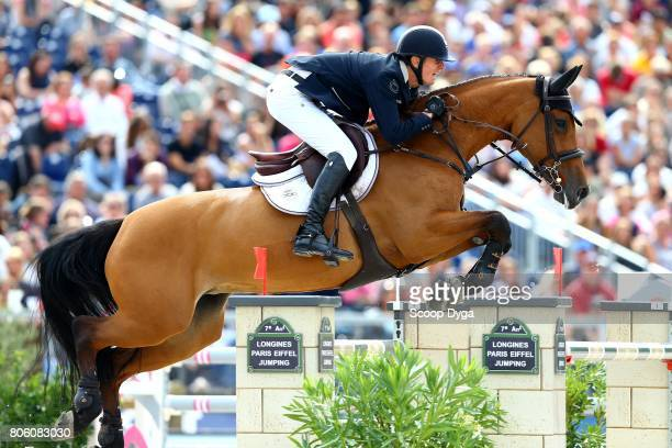 Jos VERLOOY of Belgium riding APOLLONIA 23 during the Longines Paris Eiffel Jumping on July 2 2017 in Paris France