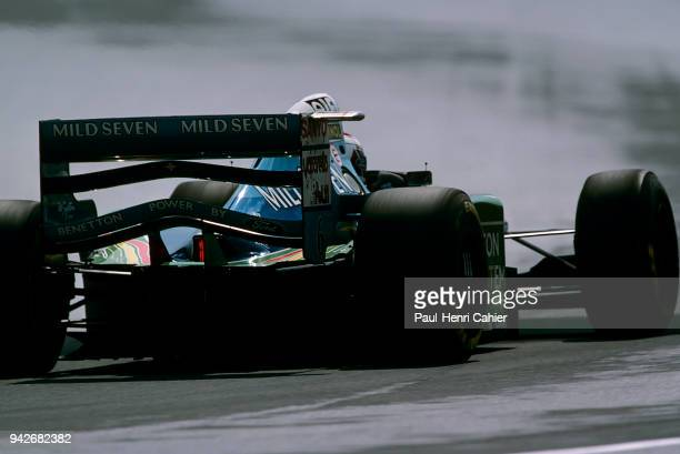 Jos Verstappen BenettonFord B194 Grand Prix of Hungary Hungaroring 14 August 1994 Jos Verstappen on the way to third place and a podium in the 1994...