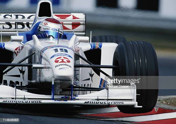 Jos Verstappen drives the Steward Ford Stewart SF2 Ford ZetecR 30 V10 during the Marlboro Grand Prix of Hungary on 16th August 1998 at the...