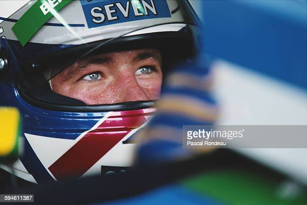 Jos Verstappen of the Netherlands driver of the Mild Seven Benetton Ford Benetton B194 Ford V8 during practice Brazilian Grand Prix on 26 March 1994...