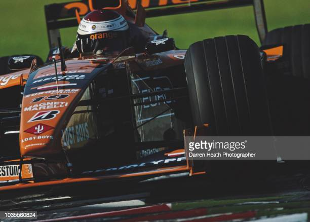 Jos Verstappen of the Netherlands drives the Arrows F1 Team Arrows A21 Supertec V10 during the Formula One Italian Grand Prix on 10 September 2000 at...
