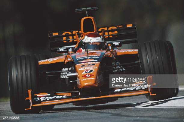 Jos Verstappen of the Netherlands drives the Arrows F1 Team Arrows A21 Supertec V10 during the Formula One San Marino Grand Prix on 9 April 2000 at...