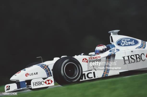 Jos Verstappen of the Netherlands drives the HSBC Stewart Ford F1 Team Stewart SF02 Ford Zetec V10 during the Formula One Austrian Grand Prix on 26...