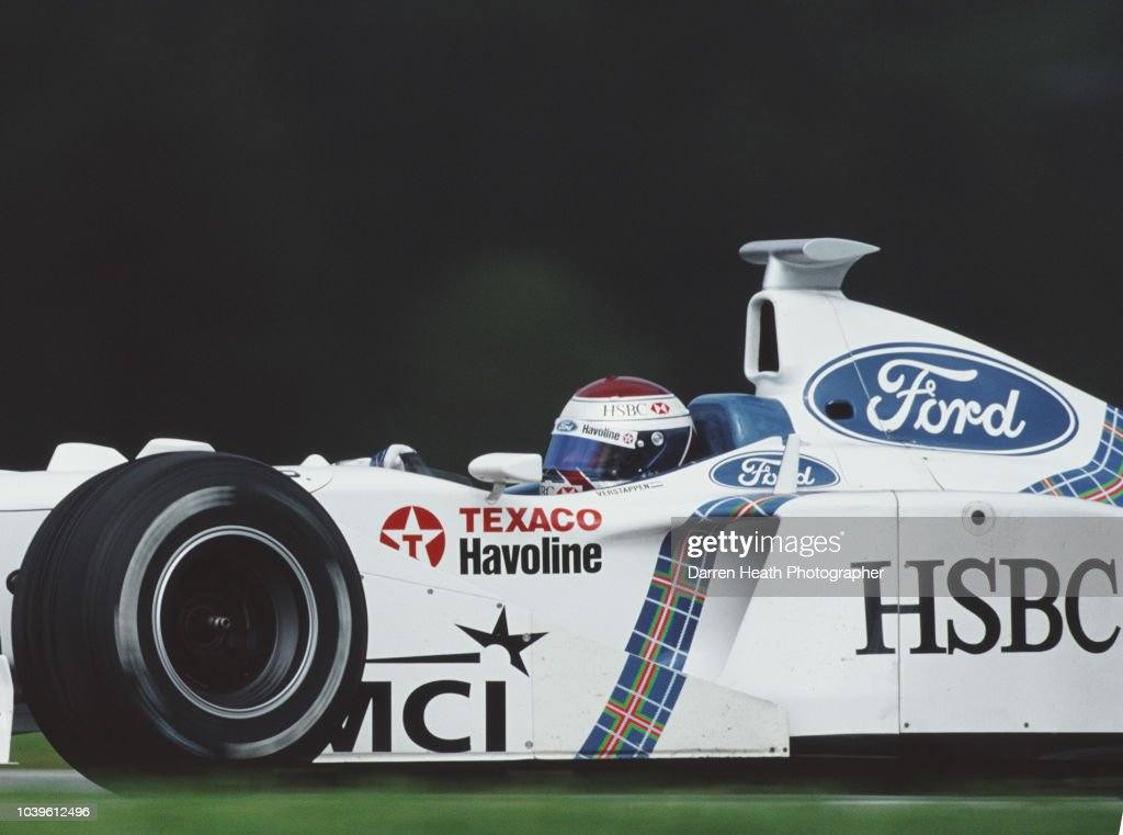 Jos Verstappen of the Netherlands drives the #19 HSBC Stewart Ford F1 Team Stewart SF02 Ford Zetec V10 during the Formula One Austrian Grand Prix on 26 July 1998 at the A1-Ring, Spielberg, Austria.