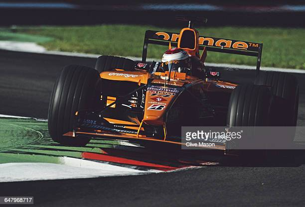 Jos Verstappen of the Netherlands drives the Orange Arrows Asiatech Arrows A22 Asiatech V10 during the Italian Grand Prix on 16 September 2001 at the...