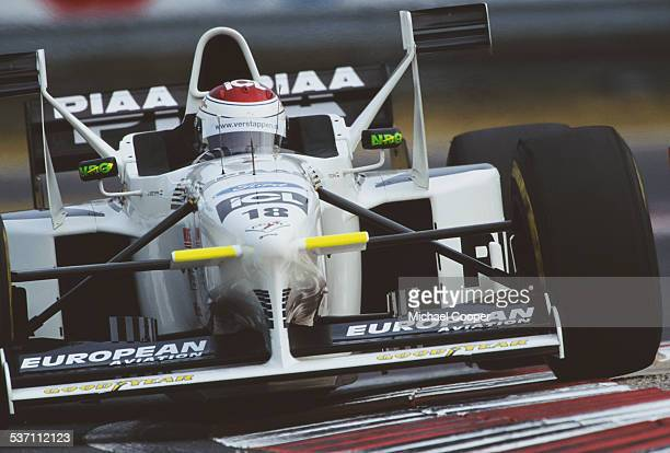 Jos Verstappen of the Netherlands drives the Stewart Ford Stewart SF02 Ford V10 during the Grand Prix of Hungary on 16th August 1998 at the...