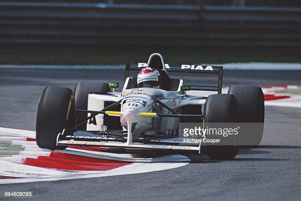 Jos Verstappen of the Netherlands drives the PIAA Tyrrell Tyrrell 025 Ford V8 during the during the Formula One Italian Grand Prix on 7 September...