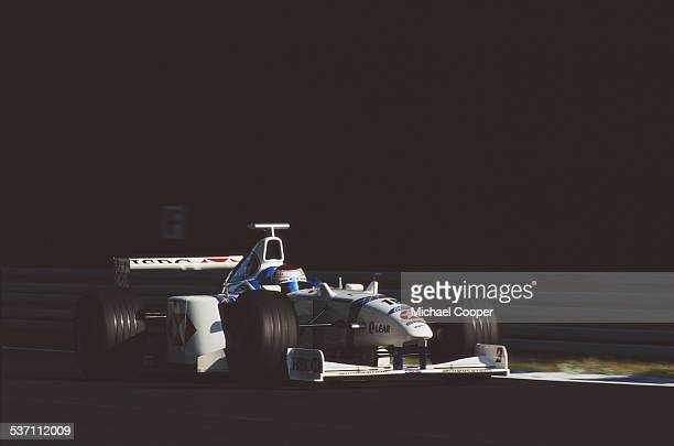Jos Verstappen of the Netherlands drives the Stewart Ford Stewart SF02 Ford V10 during the German Grand Prix on 2nd August 1998 at the Hockenheimring...