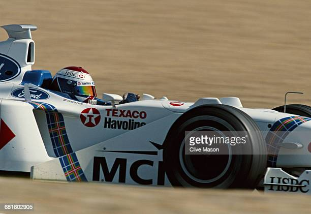 Jos Verstappen of the Netherlands drives the Stewart Ford Stewart SF02 Ford V10 during the Luxembourg Grand Prix on 27 September 1998 at the...