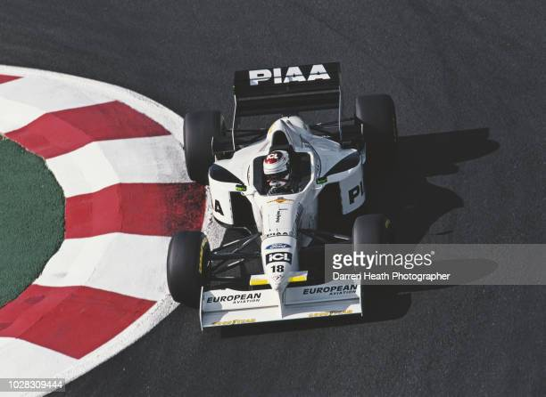 Jos Verstappen of the Netherlands drives the Tyrrell 025 Ford V8 during practice the Formula One French Grand Prix on 28 June 1997 at the Circuit de...
