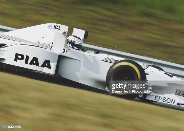 Jos Verstappen of the Netherlands drives the Tyrrell 025 Ford V8 during the Formula One Hungarian Grand Prix on 10 August 1997 at the Hungaroring...