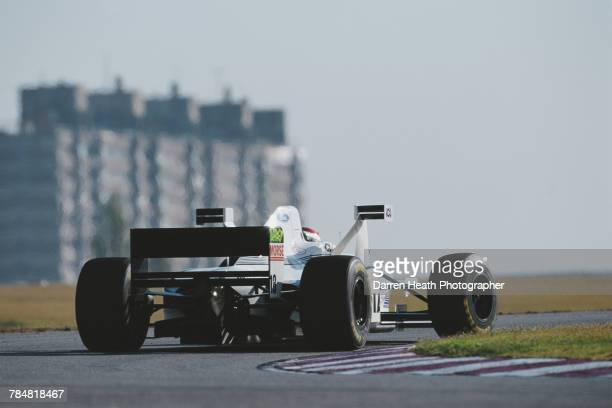 Jos Verstappen of the Netherlands drives the Tyrrell Racing Tyrrell 025 Ford V8 with the aerodynamic XWings during the Formula One Argentinian Grand...