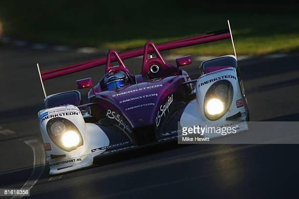 Jos Verstappen of the Netherlands drives the Van Merksteijn Motorsport Porsche RS Sypder during the 76th running of the Le Mans 24 Hour race at the...