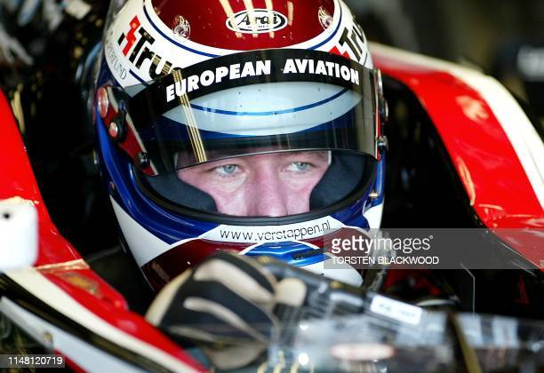 Jos Verstappen of The Netherlands leaves the pits for the first practice session of the Australian Formula One Grand Prix in Melbourne 07 March 2003...