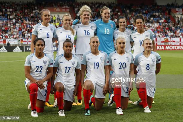 Josanne Potter of England women Laura Bassett of England women Millie Bright of England women Siobhan Chamberlain of England women Karen Carney of...