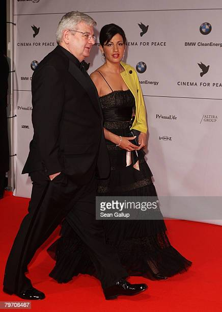 Joschka Fischer and Minu Barati attends the 7th Annual Cinema For Peace Gala sponsored by BMW CleanEnergy as part of the 58th Berlinale International...