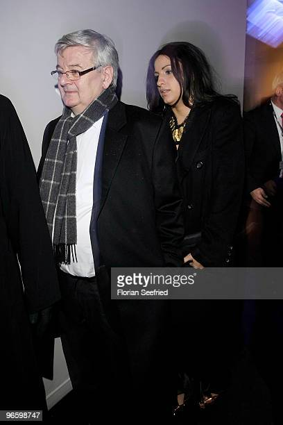 Joschka Fischer and wife Minu BaratiFischer attend the opening party of the 60th Berlin Film Festival at Cafe Moskau on February 11 2010 in Berlin...
