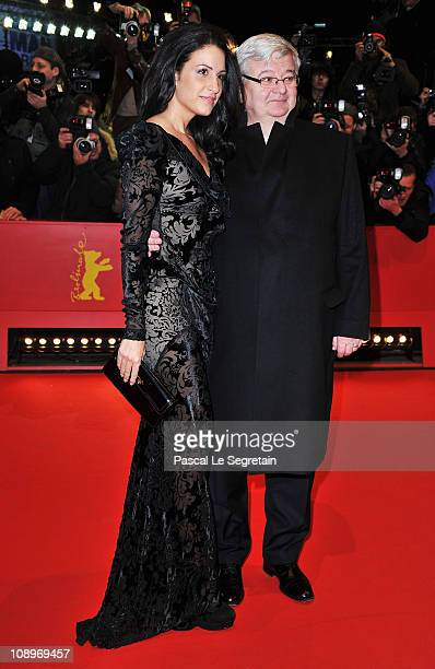 Joschka Fischer and wife Minu Barati-Fischer attend the 'True Grit' Premiere during the opening day of the 61st Berlin International Film Festival at...