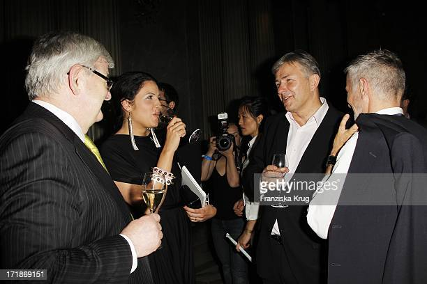 Joschka Fischer with wife Minu BaratiFischer and Klaus Wowereit With Joern Kubicki at the notion of Eugene Onegin at the Opera for All Unter Den...
