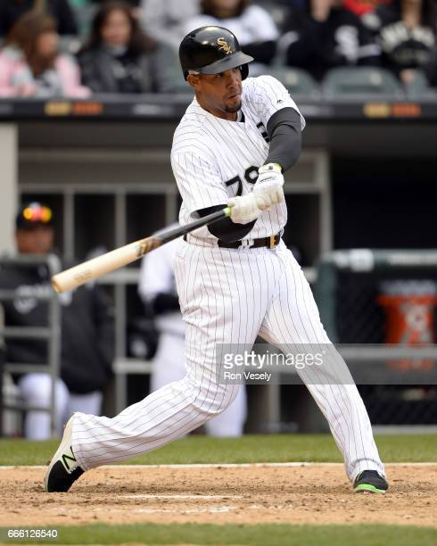 Jose Abreu of the Chicago White Sox bats against the Detroit Tigers on April 04 2017 at Guaranteed Rate Field in Chicago Illinois The Tigers defeated...