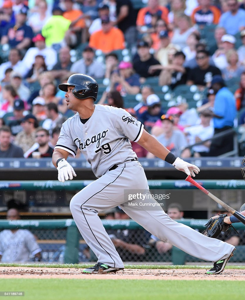 Jose Abreu #79 of the Chicago White Sox bats during the game against the Detroit Tigers at Comerica Park on June 3, 2016 in Detroit, Michigan. The Tigers defeated the White Sox 10-3.