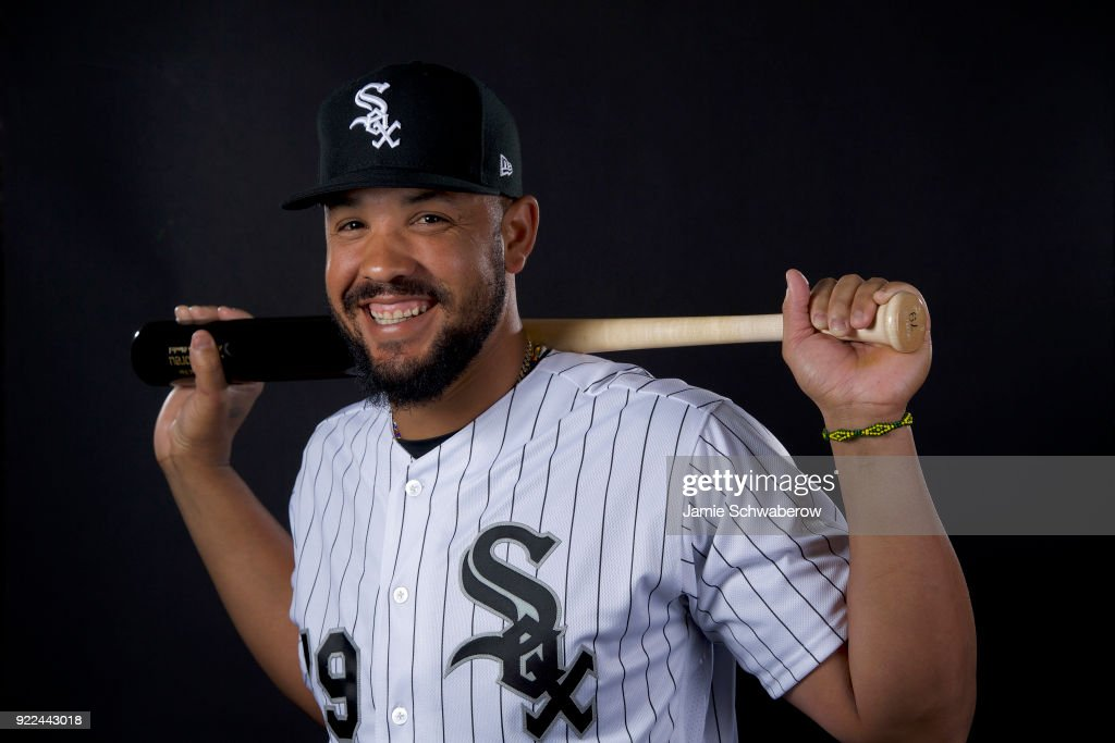 Jose Abreu #79 of the Chicago White Sox poses during MLB Photo Day on February 21, 2018 in Glendale, Arizona.