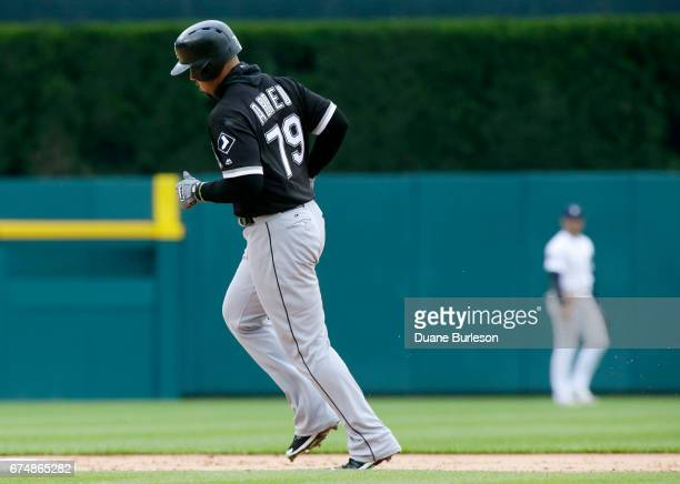 Jose Abreu of the Chicago White Sox rounds the bases after hitting a solo home run against the Detroit Tigers during the third inning at Comerica...