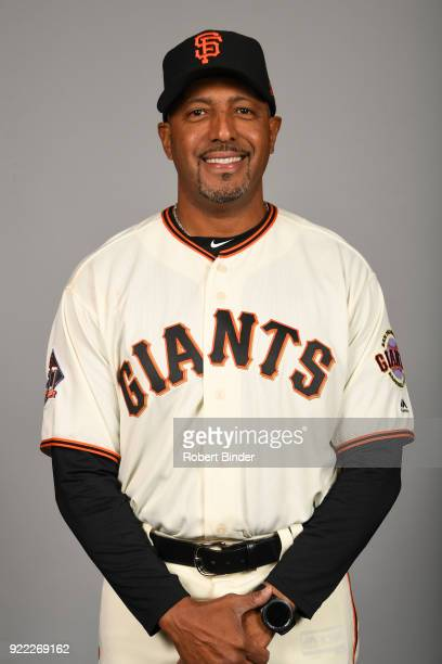 Jose Alguacil of the San Francisco Giants poses during Photo Day on Tuesday February 20 2018 at Scottsdale Stadium in Scottsdale Arizona