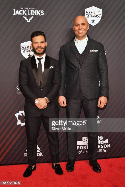 Jose Altuve and Carlos Beltran attend SPORTS ILLUSTRATED 2017 Sportsperson of the Year Show on December 5 2017 at Barclays Center in New York City
