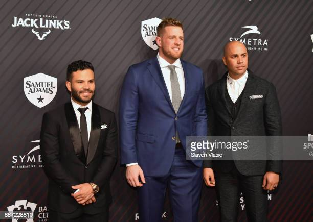 Jose Altuve JJ Watt and Carlos Beltran attends SPORTS ILLUSTRATED 2017 Sportsperson of the Year Show on December 5 2017 at Barclays Center in New...