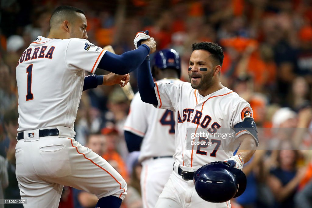 Divisional Series - Tampa Bay Rays v Houston Astros - Game Five : News Photo