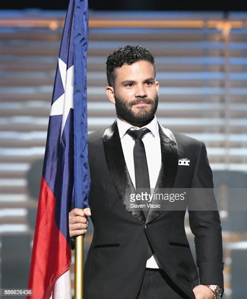 Jose Altuve receive the Sportsperson of the Year Award during SPORTS ILLUSTRATED 2017 Sportsperson of the Year Show on December 5 2017 at Barclays...