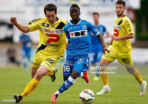 Jose Alvarez of KAA Gent in action during the pre season friendly match between KSV Oudenaarde and KAA Gent held at Burgemeester Thienpontstadion on...