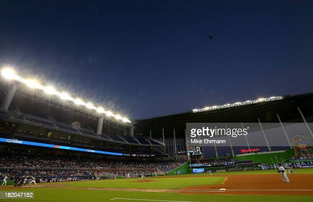 Jose Alvarez of the Detroit Tigers pitches during a game against the Miami Marlins at Marlins Park on September 27 2013 in Miami Florida