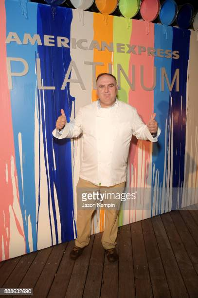 Jose Andres attends FOOD MEETS ART hosted by Jose Andres for American Express Platinum Card Members at the SLS South Beach Hotel on December 8 2017...