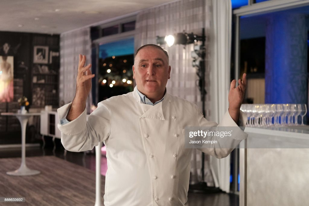 FOOD MEETS ART, Hosted By Jose Andres For American Express Platinum Card Members At The SLS South Beach Hotel : News Photo