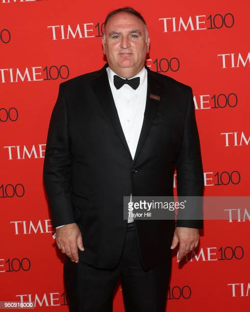 Jose Andres attends the 2018 Time 100 Gala at Frederick P. Rose Hall, Jazz at Lincoln Center on April 24, 2018 in New York City.