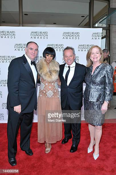 Jose Andres Gelila Assefa Wolfgang Puck and Susan Ungaro attend the 2012 James Beard Foundation Awards at Avery Fisher Hall at Lincoln Center for the...