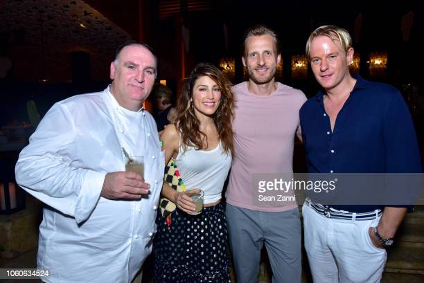 Jose Andres Jennifer Esposito Jesper Vesterstrom and Daniel Beneict attend the Dorado Beach A RitzCarlton Reserve Reopening on November 9 2018 in San...