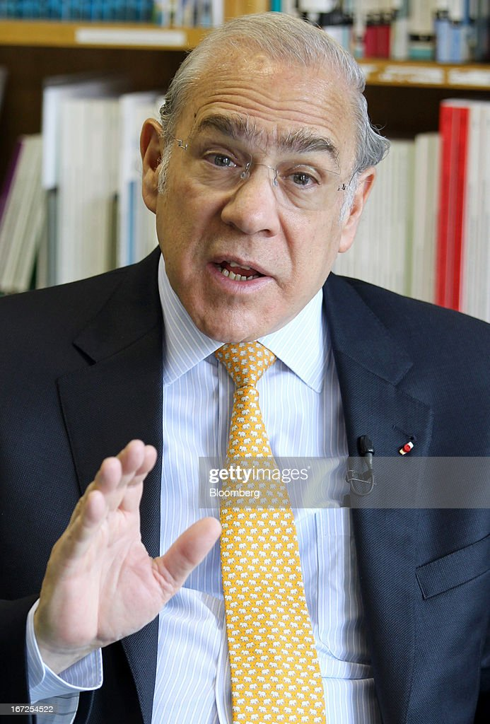 Jose Angel Gurria, secretary-general of the Organization for Economic Cooperation and Development (OECD), speaks during an interview at the OECD's office in Tokyo, Japan, on Tuesday, April 23, 2013. There is no currency war going on, Gurria said. Photographer: Junko Kimura/Bloomberg via Getty Images