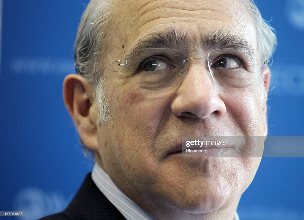 Jose Angel Gurria, secretary-general of the Organization for Economic Cooperation and Development (OECD), attends an interview at the OECD's office in Tokyo, Japan, on Tuesday, April 23, 2013. There is no currency war going on, Gurria said. Photographer: Junko Kimura/Bloomberg via Getty Images