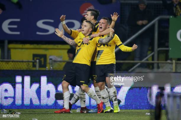 Jose Angelino of NAC Breda Giovanni Korte of NAC Breda during the Dutch Eredivisie match between NAC Breda and FC Utrecht at the Rat Verlegh stadium...