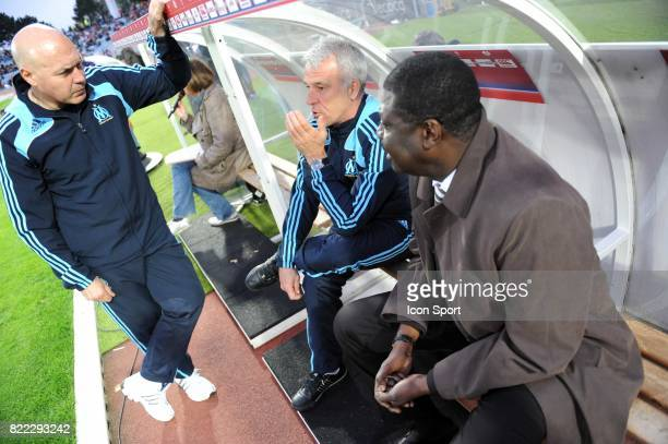 Jose ANIGO / Eric GERETS / Pape DIOUF Lille / Marseille 33eme journee de Ligue 1 Stadium Nord Villeneuve d'Ascq Lille