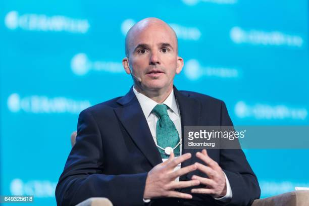 Jose Antonio Anaya chief executive officer of Petroleos Mexicanos speaks during the 2017 CERAWeek by IHS Markit conference in Houston Texas US on...