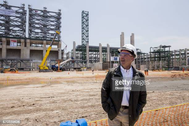 Jose Antonio Anaya chief executive officer of Petroleos Mexicanos speaks during an event for the installation of a coke drum at the Pemex Miguel...
